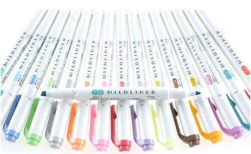 1Pc Zebra Mildliner Highlighter Pens Marker Set Color Office School Stationary v