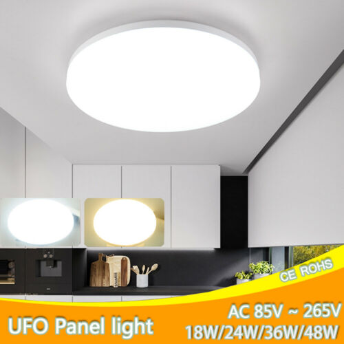 48W 36W 24W 18W UFO LED Ceiling Light  Flush Mount Kitchen Round Home Fixtures