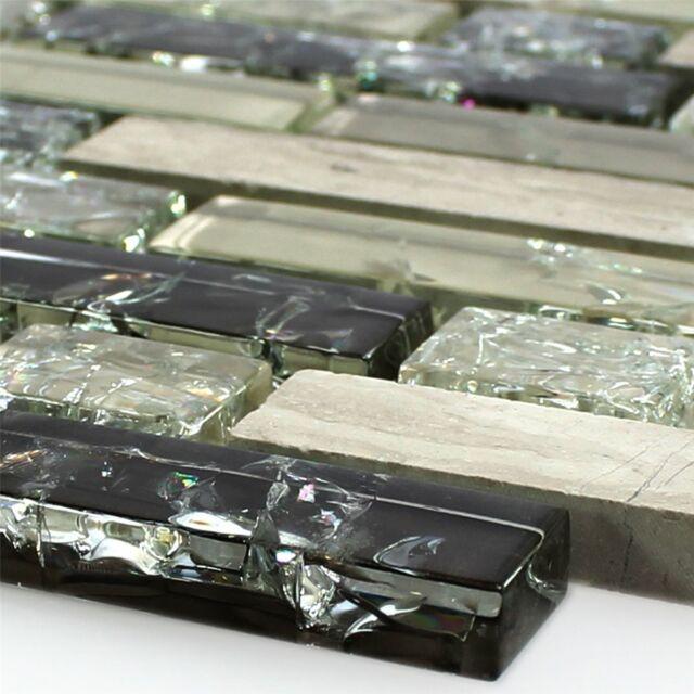 Glas Naturstein Wand Mosaik Fliesen Verbund Bruchglas Grün