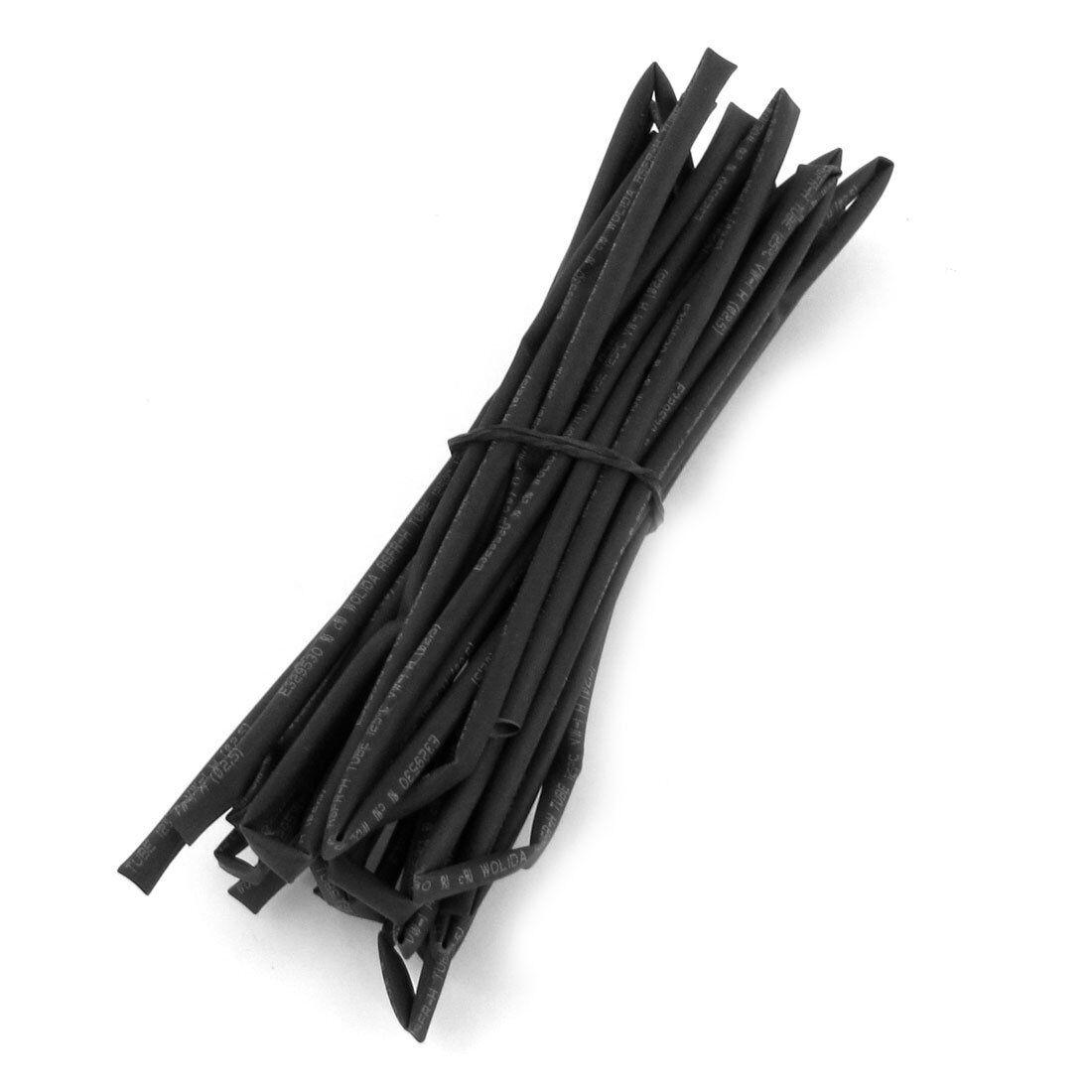 Black Heat Shrinkable Tube Shrink Tubing 5M 16.4Ft N3 2.5mm Dia