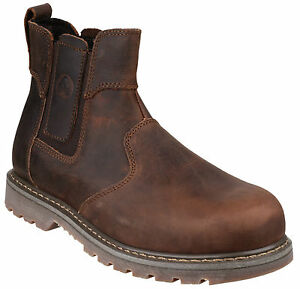 Amblers-FS165-Crazy-Horse-Dealer-Chelsea-Safety-Mens-Steel-Toe-Cap-Boots-UK4-13