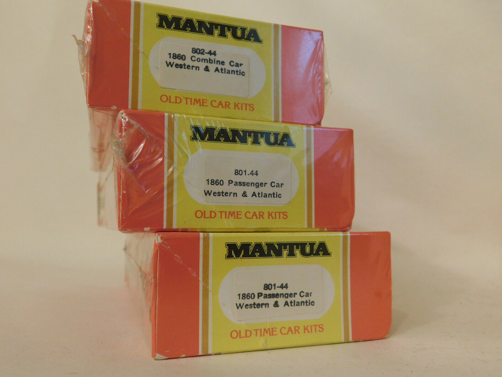MANTUA  WESTERN ATLANTIC  3 PASSENGER CAR KIT SET SEALED HO Scale TrainNEW