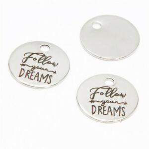 10pcs there/'s no place like home Charms stainless steel message charm pendant 20mm