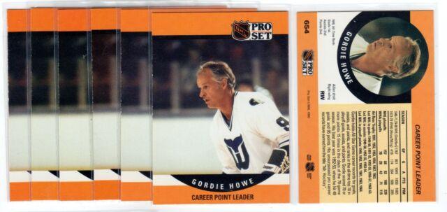 1X GORDIE HOWE 1990 91 Pro Set #654 Lots Available Red Wings Career Point Leader