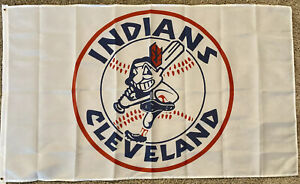 NEW-Cleveland-Indians-Flag-Banner-3x5-Ft-Chief-Wahoo-Logo-Retro-Throwback-MLB