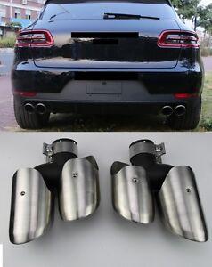 Fuer-Porsche-Macan-Endrohre-Auspuffblende-Auspuff-pipe-14-17-GTS-Turbo-4S-Look