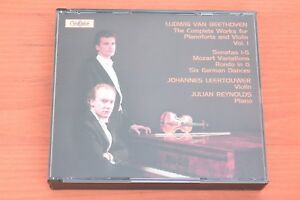 Beethoven-Complete-Works-Pianoforte-amp-Violin-Vol-1-Leertouwer-Reynolds-2CD-Globe