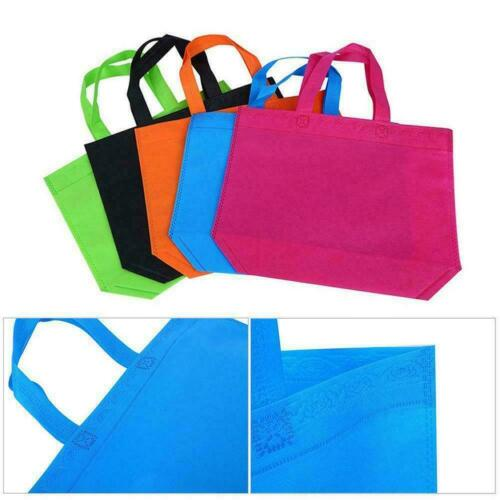 10pcs Large Shopping bags Non-woven Reusable fabrics Tote Washable 6Colors A9S9