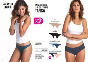 Pack 2 Tangas Mujer UNNO-DIM Microfibra Super cómodos