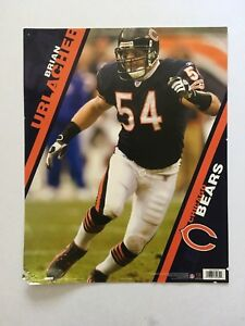 the best attitude 562d4 c8401 Details about RARE Brian Urlacher Chicago Bears Costacos Store Display  Poster HOF