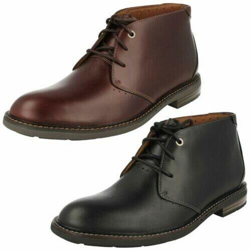 Mens Clarks Formal Lace Up Boots 'Unelott Mid'