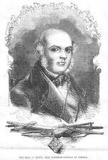 Lord Elgin ritardo governatore del Canada-antica stampa 1856