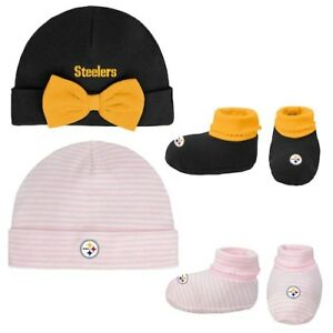 Image is loading Girls-Newborn-amp-Infant-Black-Pink-Pittsburgh-Steelers- 58ee8ae9a