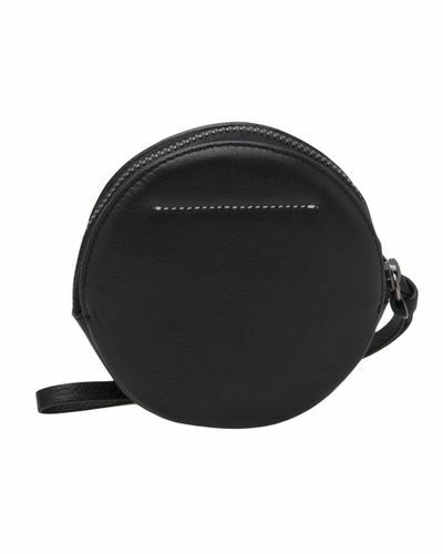 Martin Leather Mm6 Coin Margiela By Purse Maison Black qgPzw7T