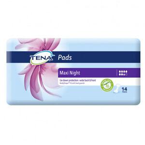 TENA PADS MAXI NIGHT 14 PACK QUICK DRY WOMEN FEMALE INCONTINENCE SANITARY NAPKIN