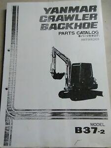 Details about YANMAR B37-2 Excavator Backhoe Parts Manual