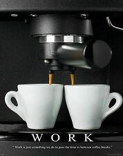 Coffee Shop Motivational Poster Art Print Beans Maker Grinder Starbucks  MVP225