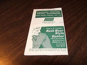 AUGUST-1971-PENN-CENTRAL-HARTFORD-CT-SPRINGFIELD-MA-PUBLIC-TIMETABLE