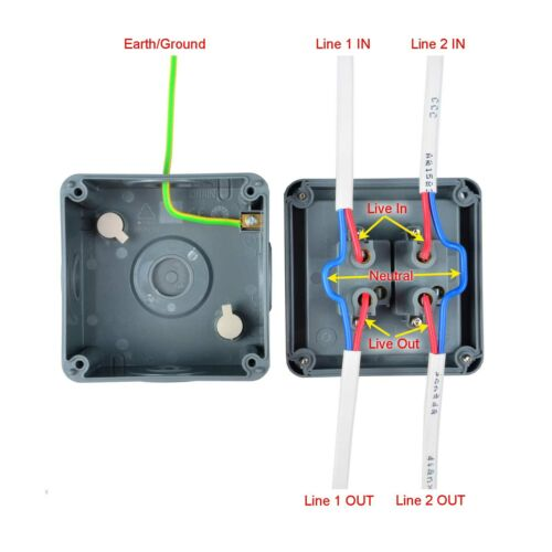 Waterproof Weatherproof Double Outside Switch 2 Gang 2 Way IP66 Quality Switch