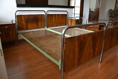 Original Nachtzimmer Bett Stahlrohr Chrom 1940 Bauhaus