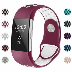 For-Fitbit-Charge-2-Watch-Band-Replacement-Watchband-Silicone-Wristband-S-L-IGK