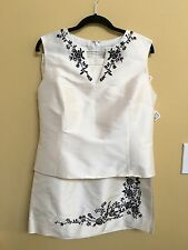 Oscar De La Renta Skirt Set Top Size 12 Skirt Size 10 NWT