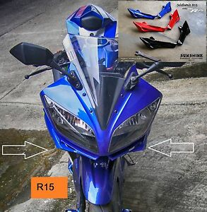Details about Yamaha YZF R15 Aerodynamic Winglets Moto GP Spoiler Race Fins  Windshields Frame