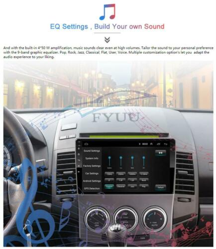 US 9/'/' Android 9.1 Car Stereo Radio 2+32GB GPS OBD DAB WIFI For Mazda 5 2005-10