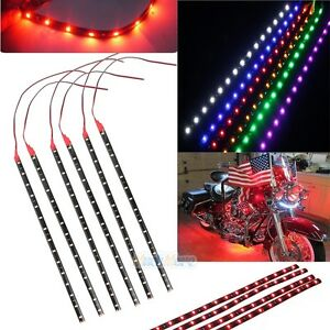 12x-Waterproof-12-039-039-15-DC-12V-Motor-LED-Strip-Underbody-Light-For-Car-Motorcycle