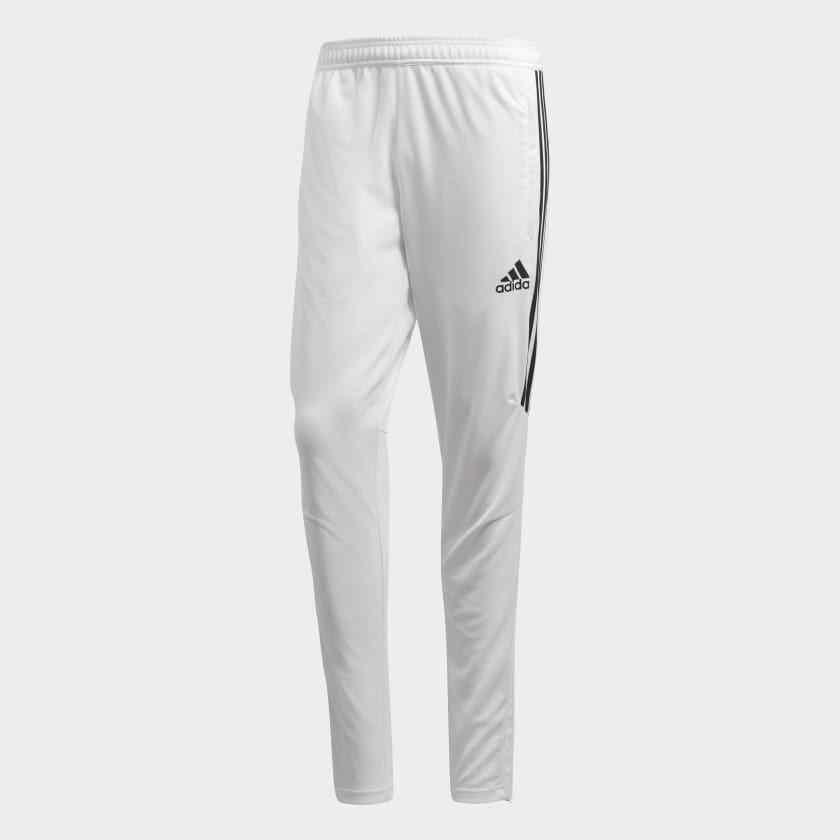 NOUVEAU Pantalon de survêtement Adidas Tiro 17 pour Homme Climacool / Soccer Blanc / Noir S / M / L