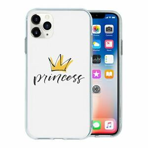 For-Apple-iPhone-11-PRO-MAX-Silicone-Case-Princess-Crown-Text-S6516