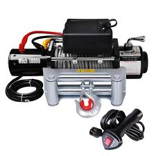 Classic 10000lbs 12V Electric Recovery Winch Truck SUV Corded Remote Switch
