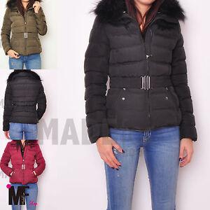 Caricamento dell immagine in corso PIUMINO-donna-giubbotto-giubbino -giacca-trapunta-cinta-cappuccio- b158e9f5a56