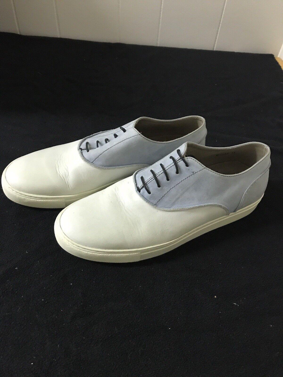 Homme Heutchy Isaac Oxford   Chaussure-Taille 11 porté une fois blanc et bleu clair
