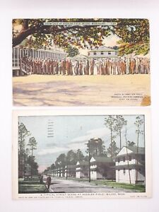 2 Kessler Field Biloxi MS WW2 US Military Postcards Posted from Camp 1944 & 1950