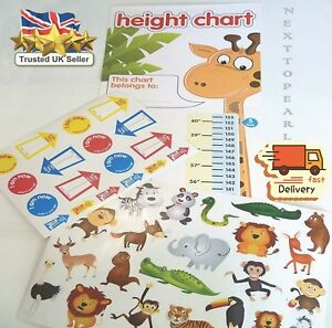 Children-039-s-Height-Chart-with-over-40-Stickers