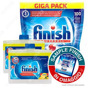 Finish-Tutto-in-Uno-Max-100-Lemon-Finish-Cura-Lavastoviglie-Lemon-Bundle-2x250ml