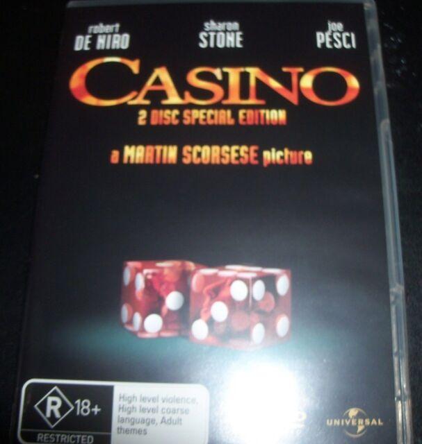 Casino (Robert De Niro Sharon Stone) (Australia Region 4) DVD – Like New