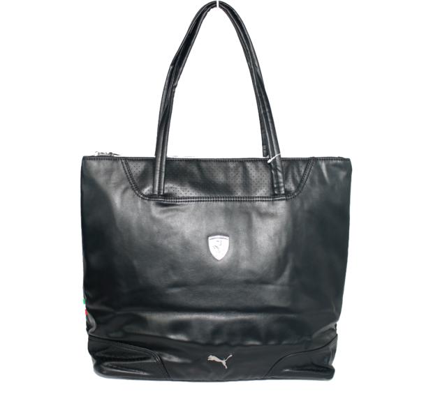 PUMA Women s Premium Ferrari Big LS SHOPPER Bag Handbag Purse Black ... fd9ed91ed3c77