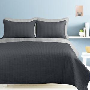 5 Piece Reversible Embossed Bedspread Set 1 comforter 4 pillowcases Machine wash