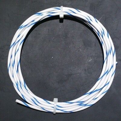 12 AWG Mil-Spec Wire Type E, Wht/Blu (PTFE) Stranded Silver Plated Mil Spec Wiring on
