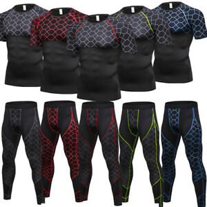Men-s-Compression-Legging-Shirt-Top-Workout-Basketball-Base-Layer-Bottoms-Top