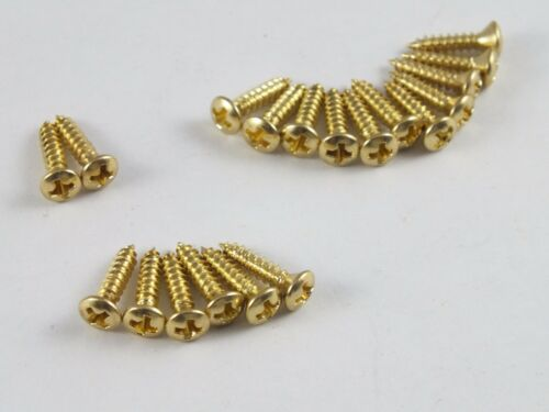19 Pickguard Screws USA STRATOCASTER Guitars in Nickel Stainless Steel or Gold