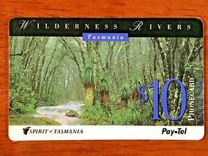 PAYTEL AUSTRALIA PHONECARD SPIRIT OF TASMANIA WILDERNESS RIVERS!