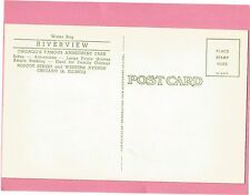 ORIGINAL RIVERVIEW AMUSEMENT PARK *WATER BUG* CHICAGO  POST CARD