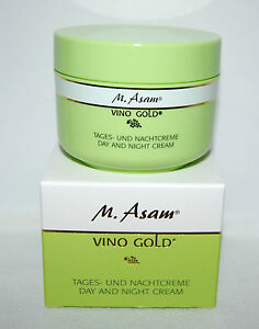 m asam vino gold day and night cream 100ml made in germany. Black Bedroom Furniture Sets. Home Design Ideas