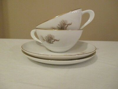 BEAUTIFUL VINTAGE CHINESE RICE PORCELAIN CUP /& SAUCER SET-UNKNOWN MAKER