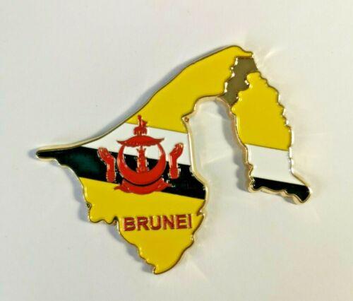 Brunei Carte Drapeau Métal vacances souvenir tourisme collection aimant de réfrigérateur