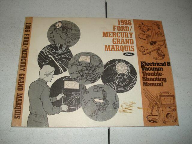 1986 Ford Mercury Grand Marquis Wiring  U0026 Vacuum Service