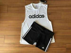 Aparte pirámide Humedad  Adidas Mujer Climalite Corto/Top Conjunto Traje De Entrenamiento Gimnasio  Set Sport Talla L | eBay